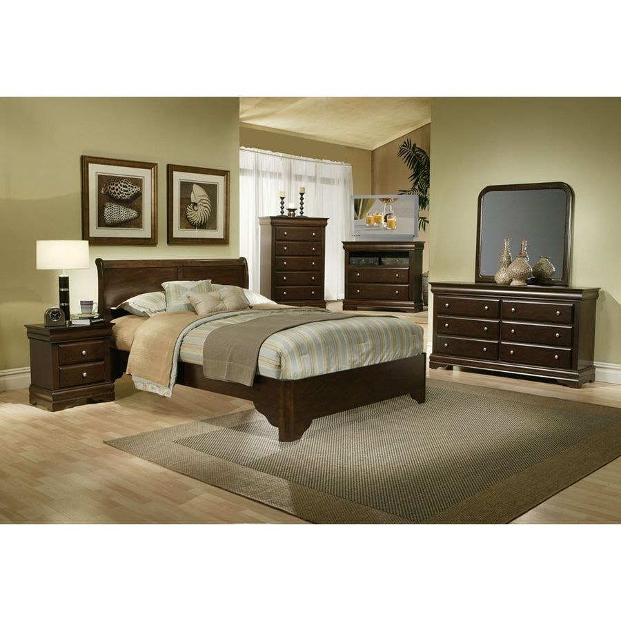 shop alpine furniture chesapeake cappuccino king sleigh 15762 | 1000280947