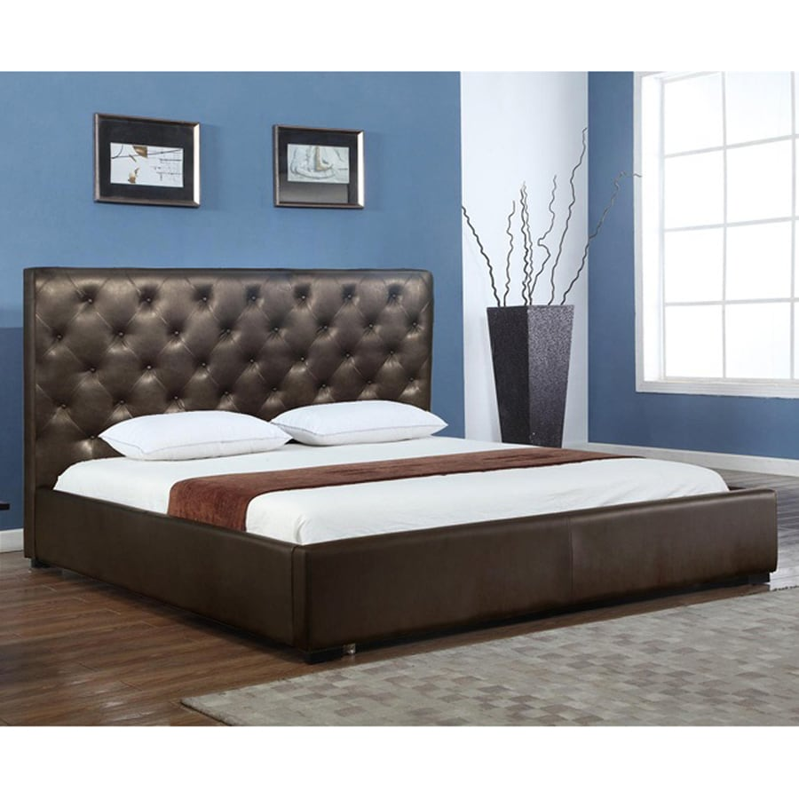 J&M Furniture Zoe Chocolate King Platform Bed with Integrated Storage