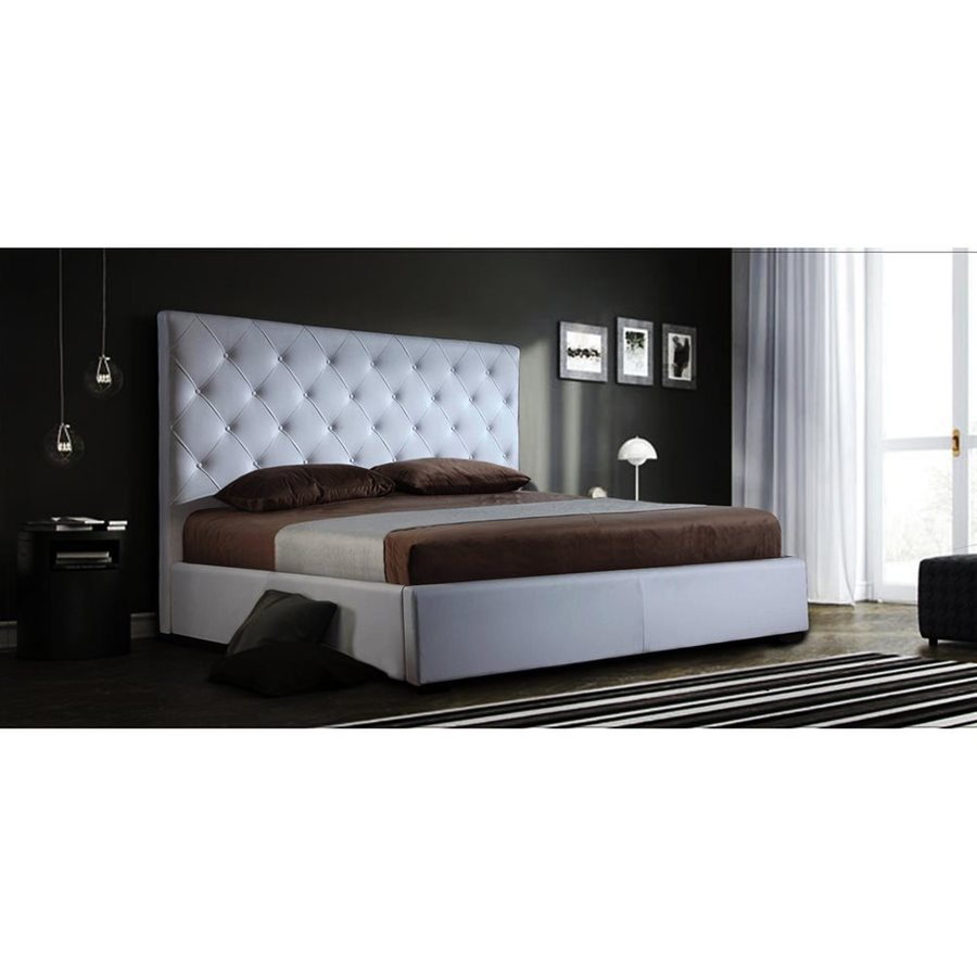 shop j m furniture zoe white king platform bed with integrated storage at. Black Bedroom Furniture Sets. Home Design Ideas
