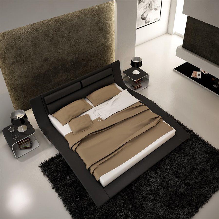 J&M Furniture Wave Black King Platform Bed
