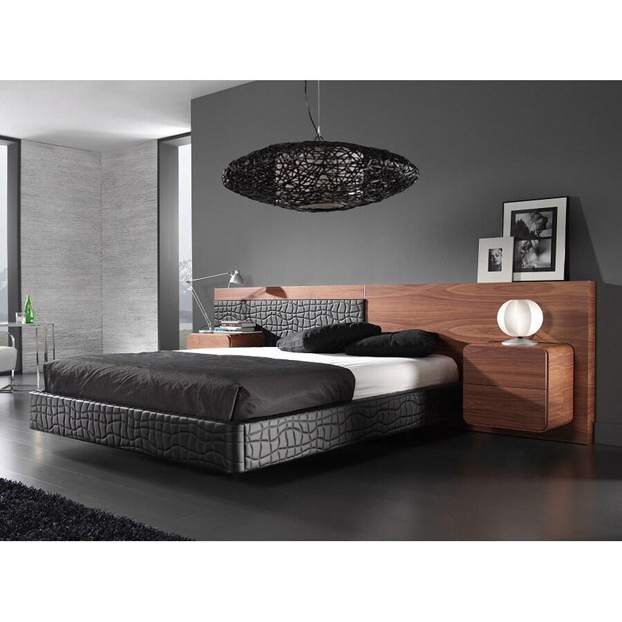J&M Furniture Zaragoza Walnut/Black King Platform Bed