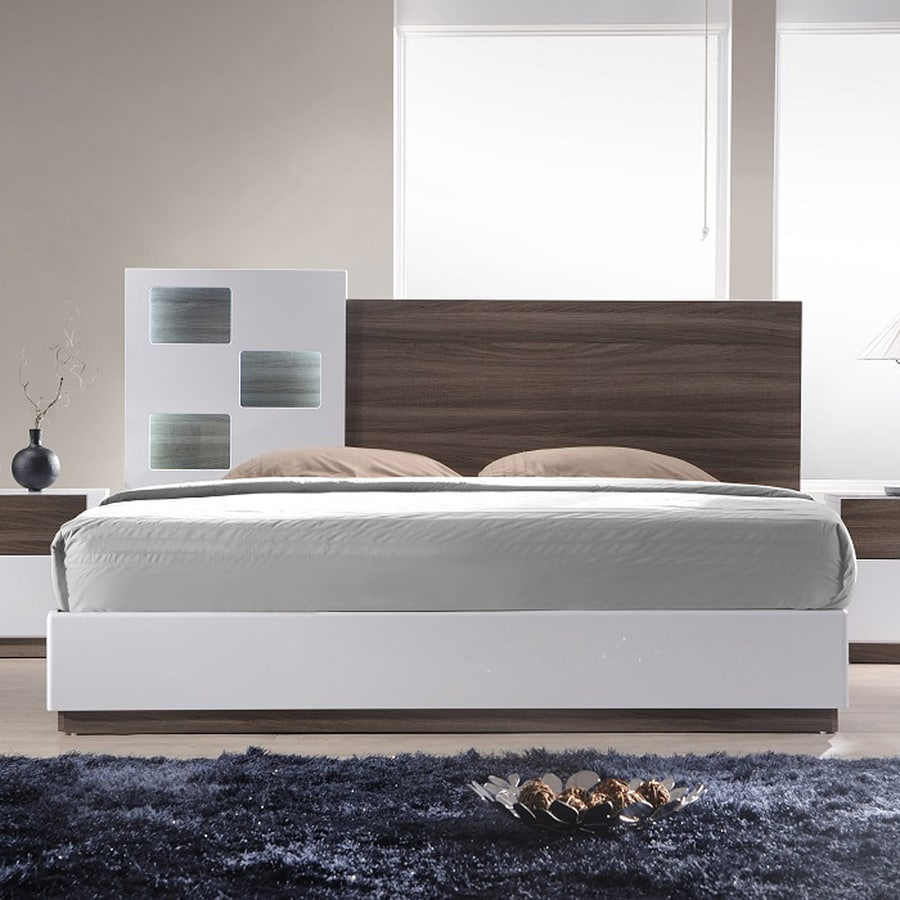 J&M Furniture Sanremo Walnut/White Queen Platform Bed