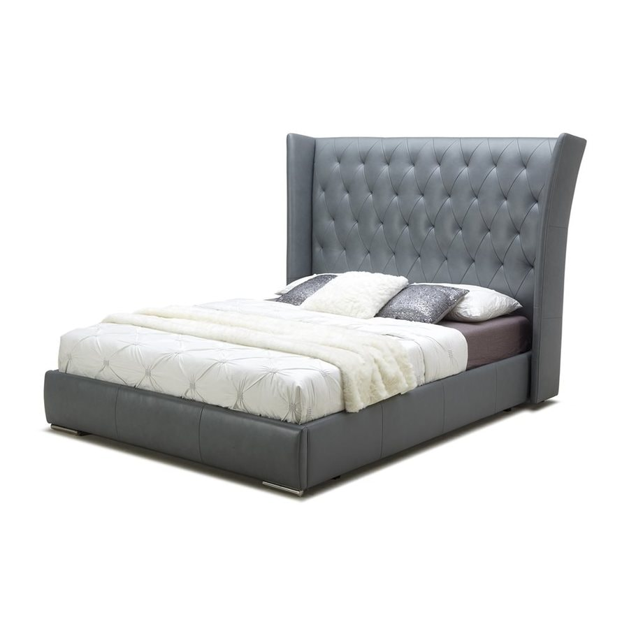 J&M Furniture Donovan Dark Grey Queen Platform Bed