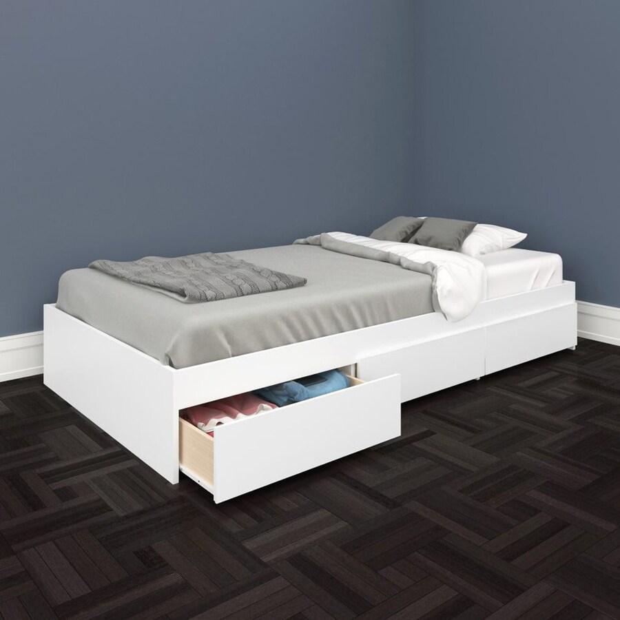 Attrayant Nexera BLVD White Twin Platform Bed With Storage