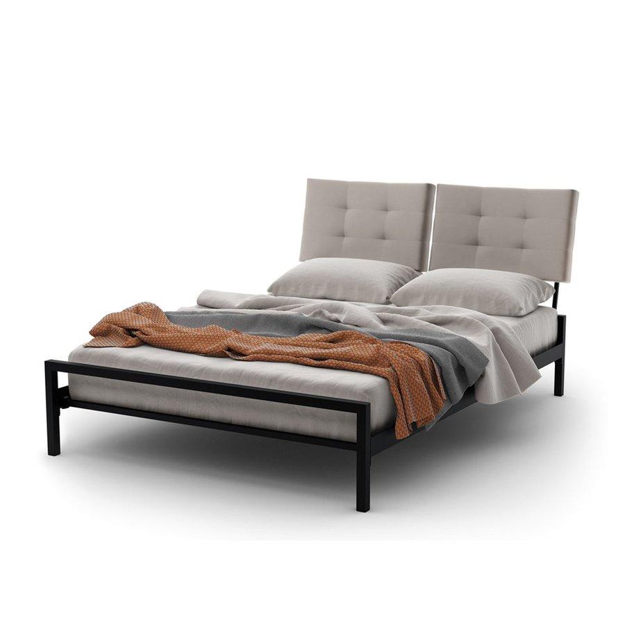 Amisco Delaney Textured Dark Brown Full Platform Bed