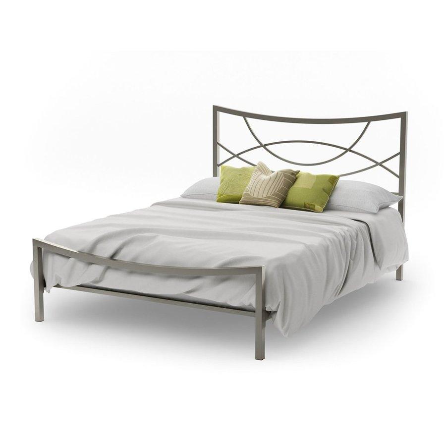 Amisco Equinox Matte Light Grey Queen Panel Bed