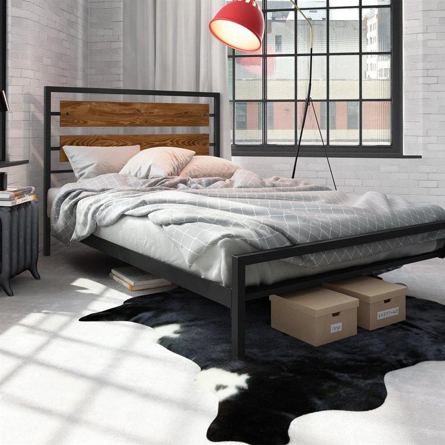 Amisco Fargo Black Queen Platform Bed
