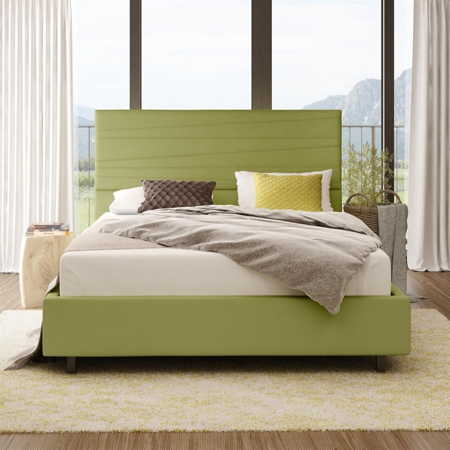 Amisco Prana Green Queen Upholstered Bed