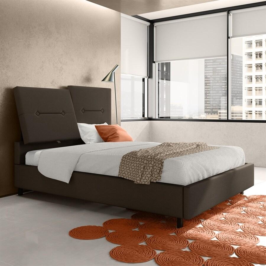 Amisco Harmony Dark Brown Grey Full Upholstered Bed