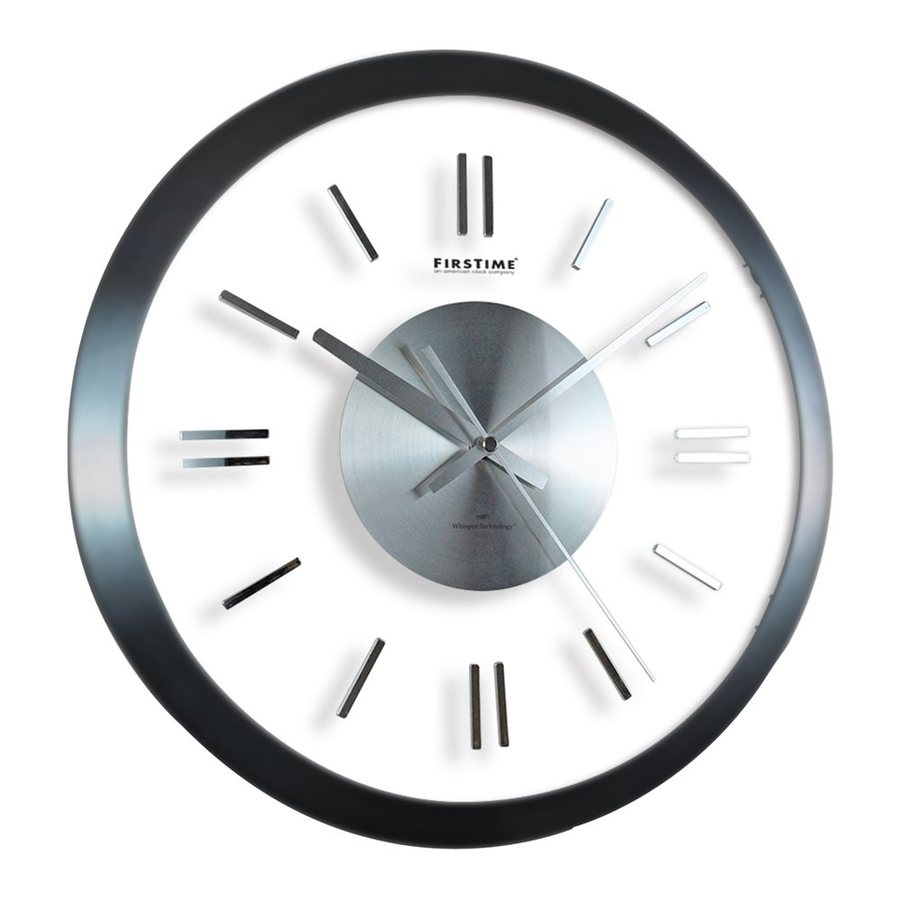 FirsTime Manufactory Modish Analog Round Indoor Wall Clock