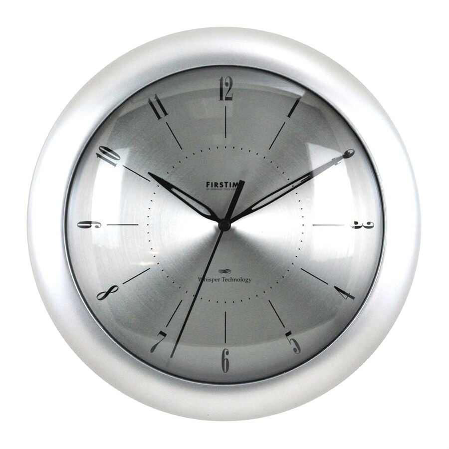 FirsTime Manufactory Plasma Analog Round Indoor Wall Clock