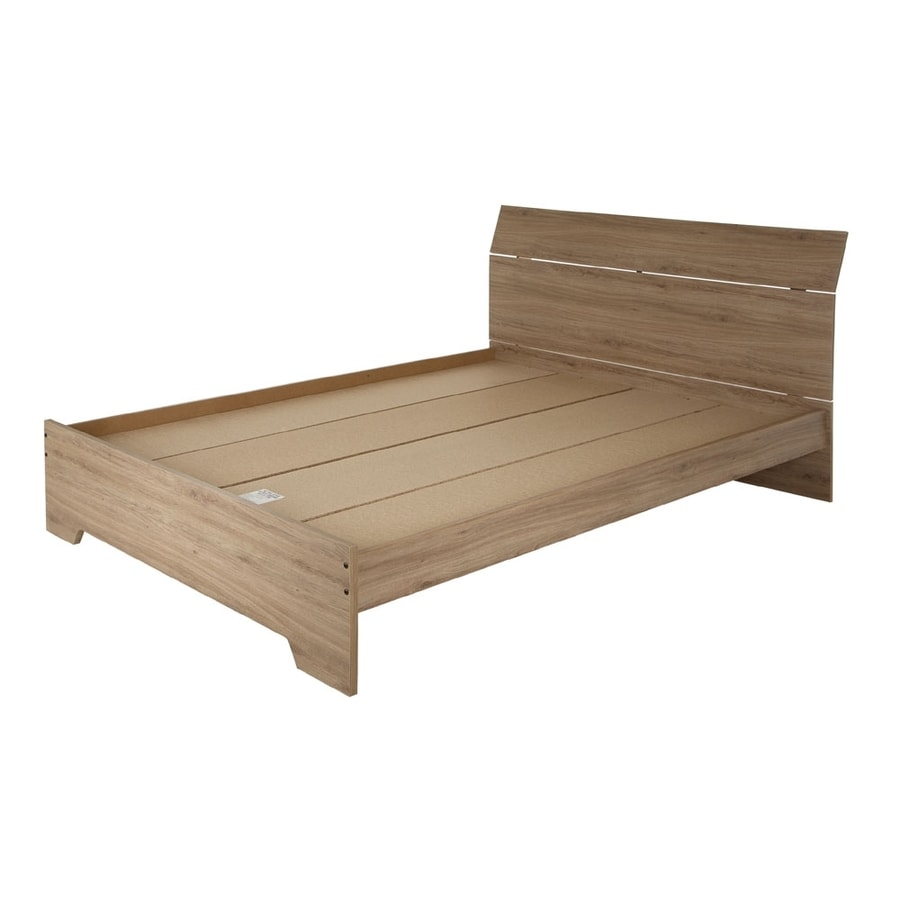 South Shore Furniture Fusion Rustic Oak Queen Platform Bed
