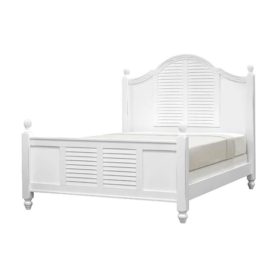 John Boyd Furniture Outer Banks Bright White Queen Panel Bed