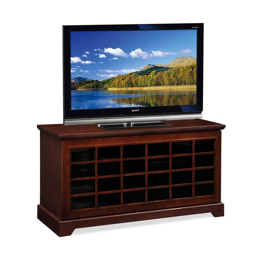 Leick Grid Chocolate Oak Rectangular TV Cabinet