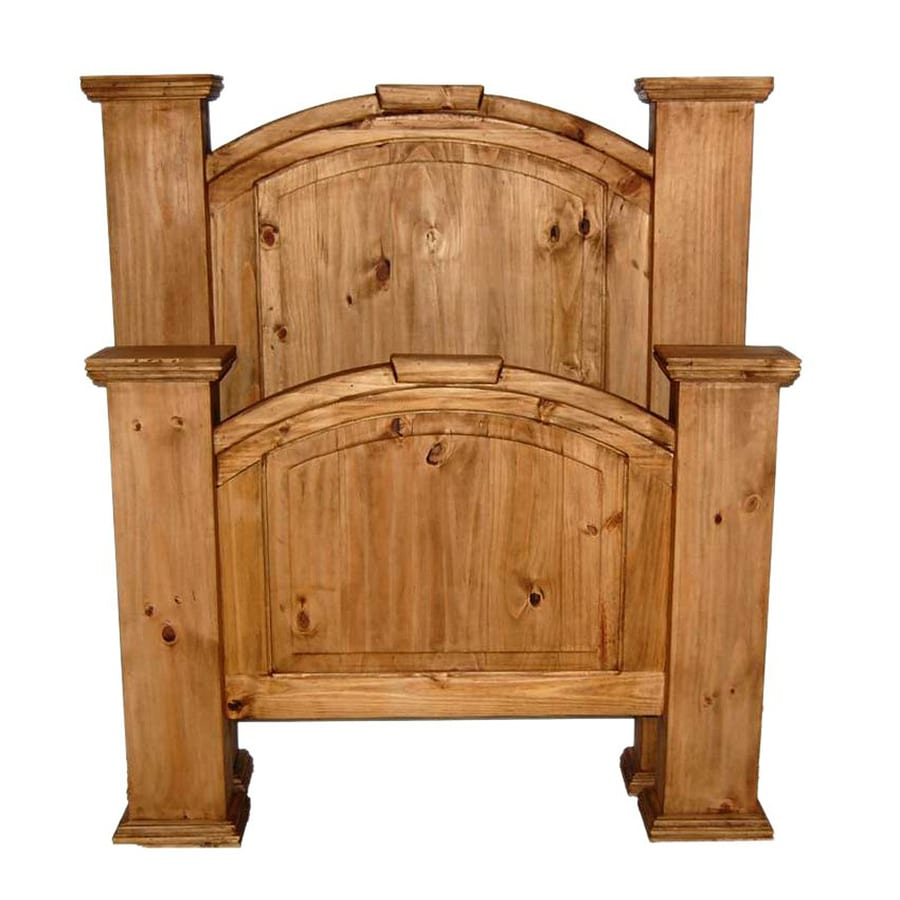 Million Dollar Rustic Mansion Rustic Twin 4-Poster Bed