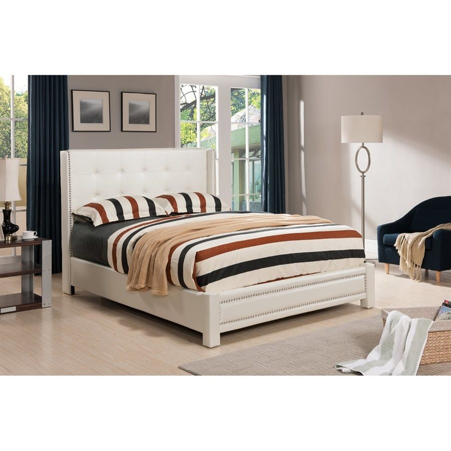 KB Furniture Ivory Full Platform Bed