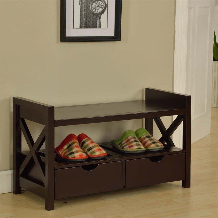 KB Furniture Transitional Cherry Storage Bench