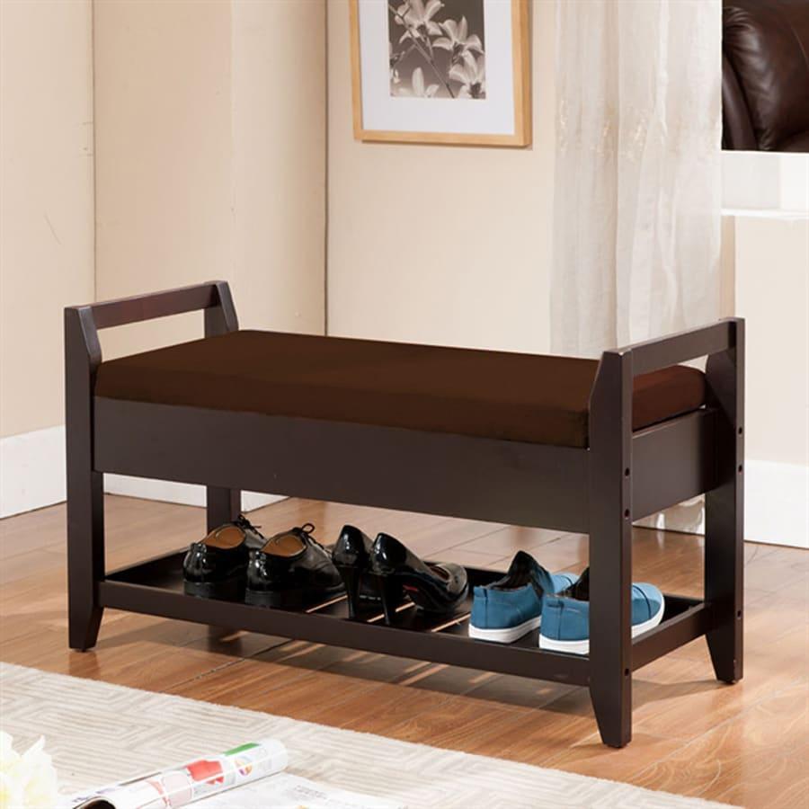 Kb Furniture Casual Espresso Storage Bench At Lowes Com