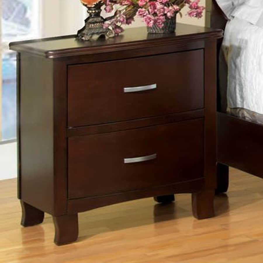 Furniture of America Crest View Brown Cherry Nightstand
