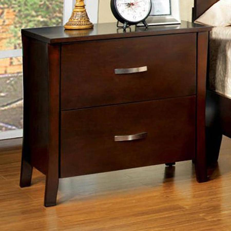 Furniture of America Midland Brown Cherry Nightstand