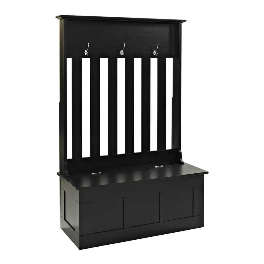 Crosley Furniture Ogden Casual Black Hall Tree Bench At