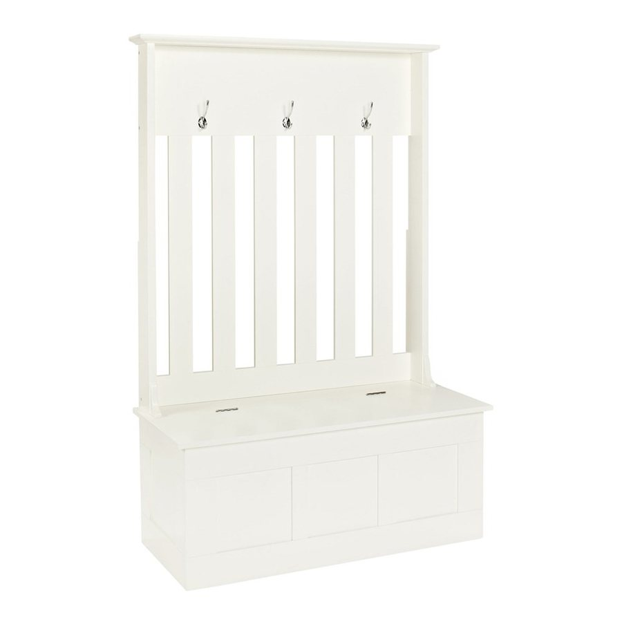 Beau Crosley Furniture Ogden Casual White Hall Tree Bench