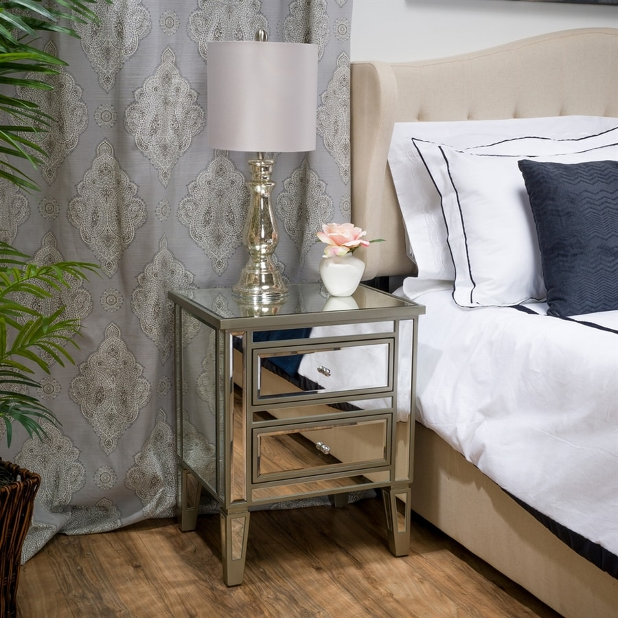 Best Selling Home Decor Crawford Silver Nightstand