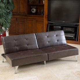 Best Ing Home Decor Alston Brown Bonded Leather Futon
