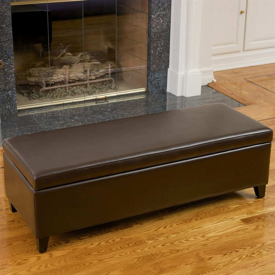 Best Selling Home Decor York Transitional Chocolate Brown Storage Bench