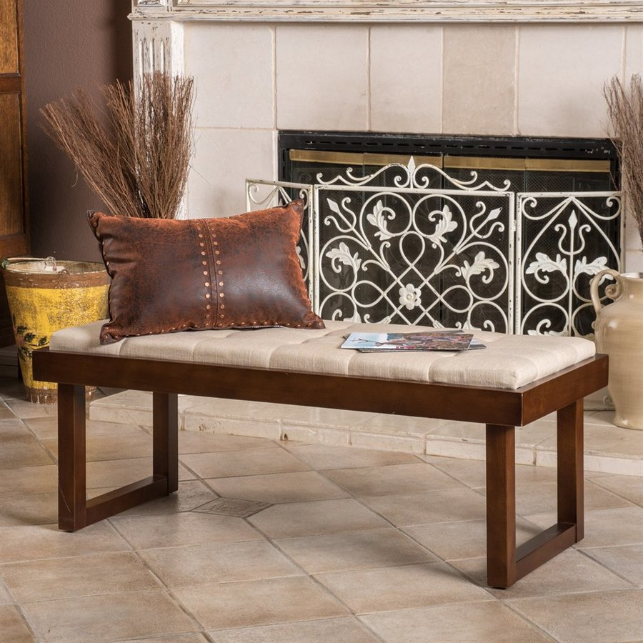 Best Selling Home Decor Bayer Transitional Dark Beige Accent Bench