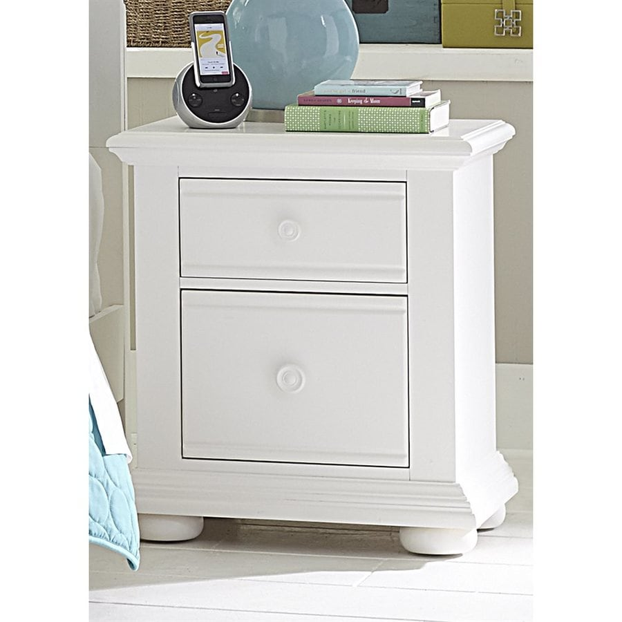 Liberty Furniture Summer House Oyster White Pine Nightstand