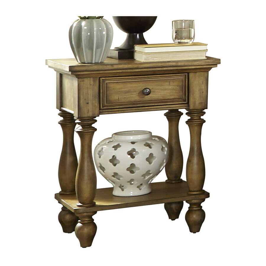Liberty Furniture High Country Distressed Honey Spice Pine Nightstand