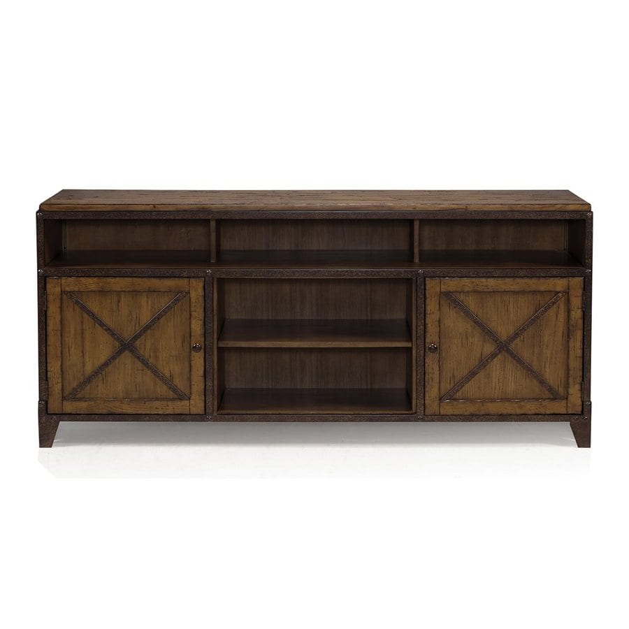 Lowe S Knotty Pine Cabinets: Magnussen Home Pinebrook Distressed Natural Pine