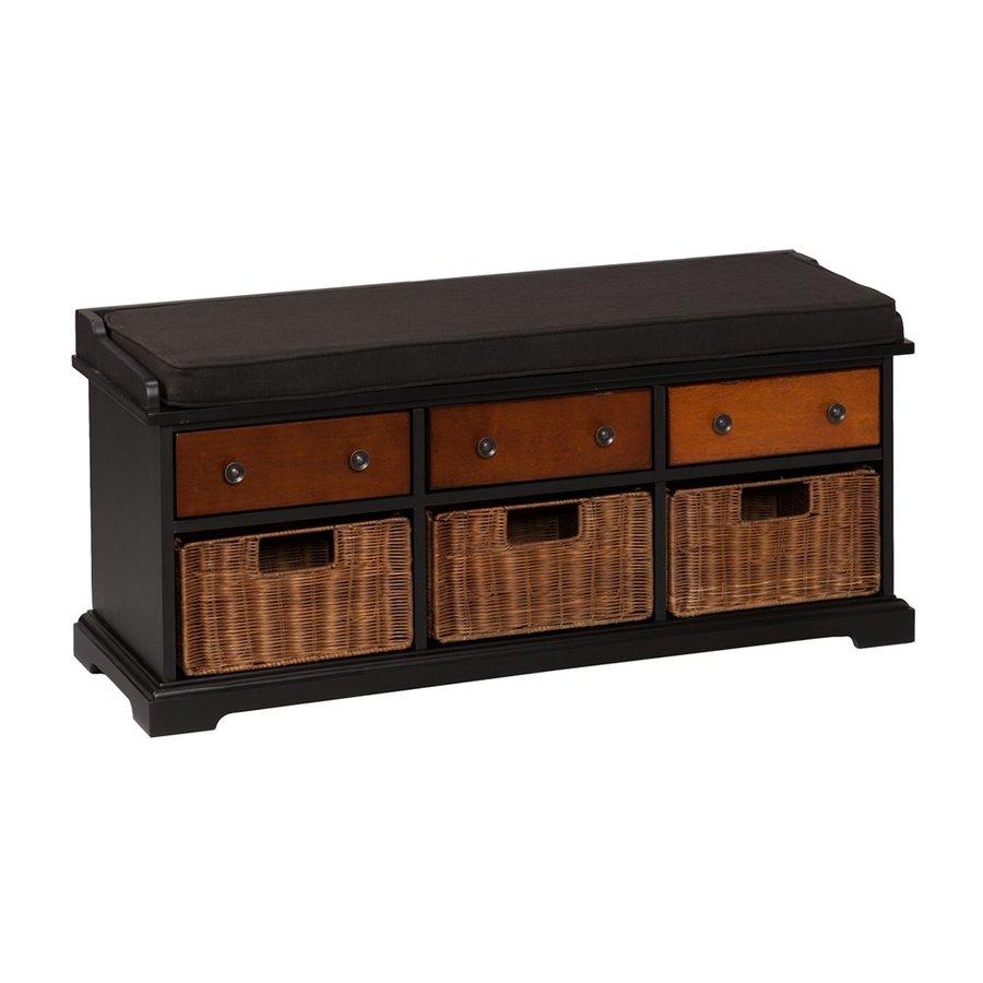 Boston Loft Furnishings Anaheim Black/Ombre Brown Storage Bench