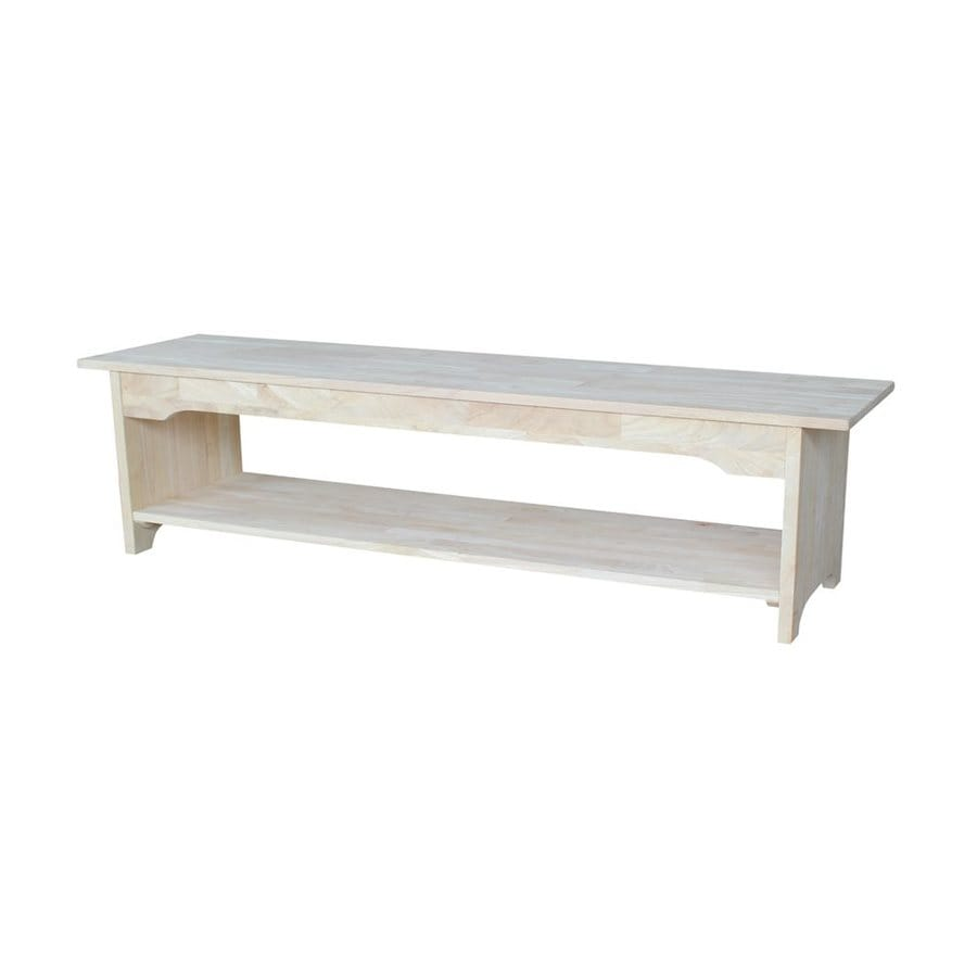 International Concepts Brookstone Traditional Natural Storage Bench