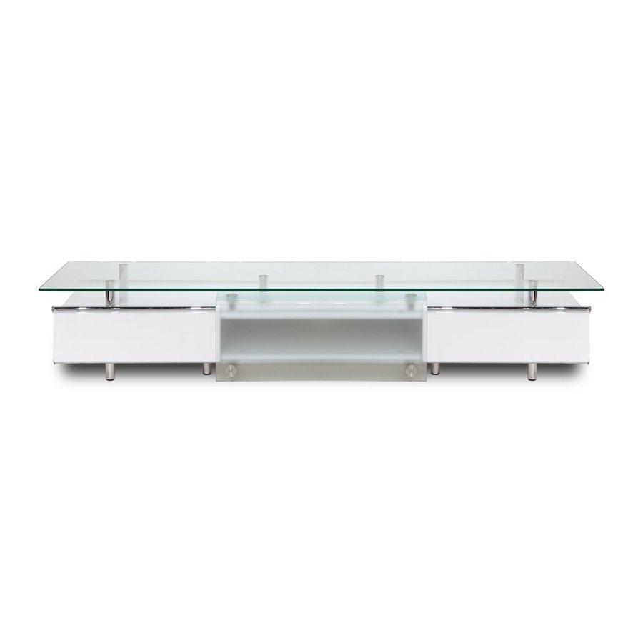 Whiteline Imports Ema High Gloss White Rectangular Tv Cabinet At