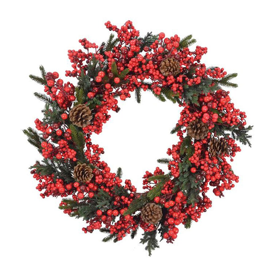 Fantastic Craft 28-in Indoor Berry Artificial Christmas Wreath