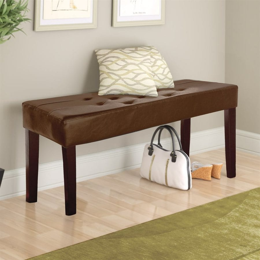 CorLiving Fresno Transitional Brown Accent Bench