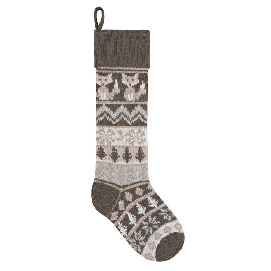 C&F Enterprises 27.5-in Gray Animals Christmas Stocking
