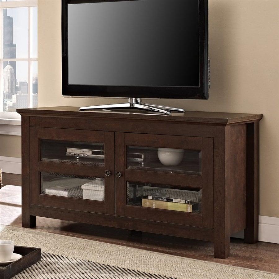 Walker Edison Coronado Brown Rectangular TV Cabinet