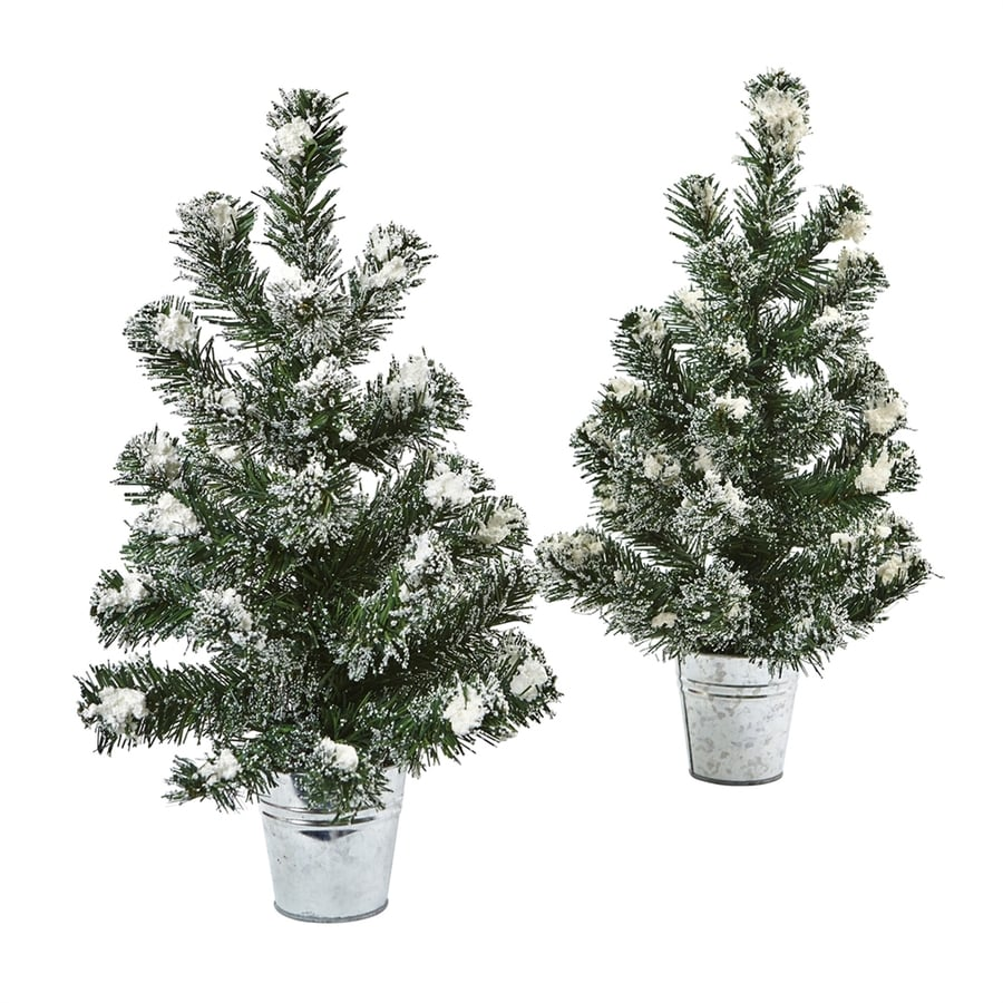 Nearly Natural 1.5-ft Flocked Artificial Christmas Tree at ...