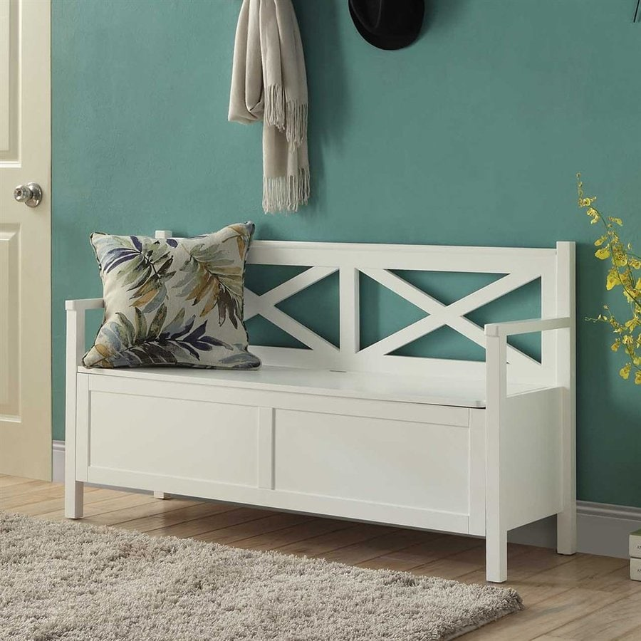 Convenience Concepts Oxford Mission/Shaker White Storage Bench