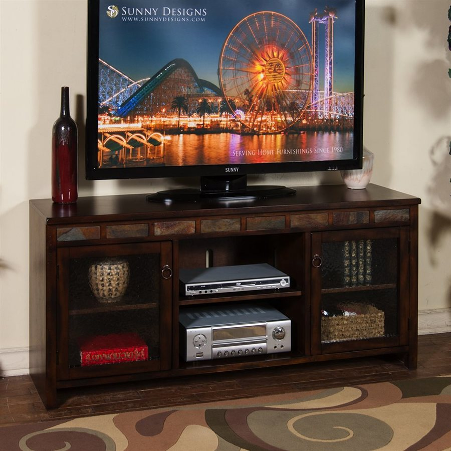 Sunny Designs Santa Fe Dark Chocolate Rectangular TV Cabinet