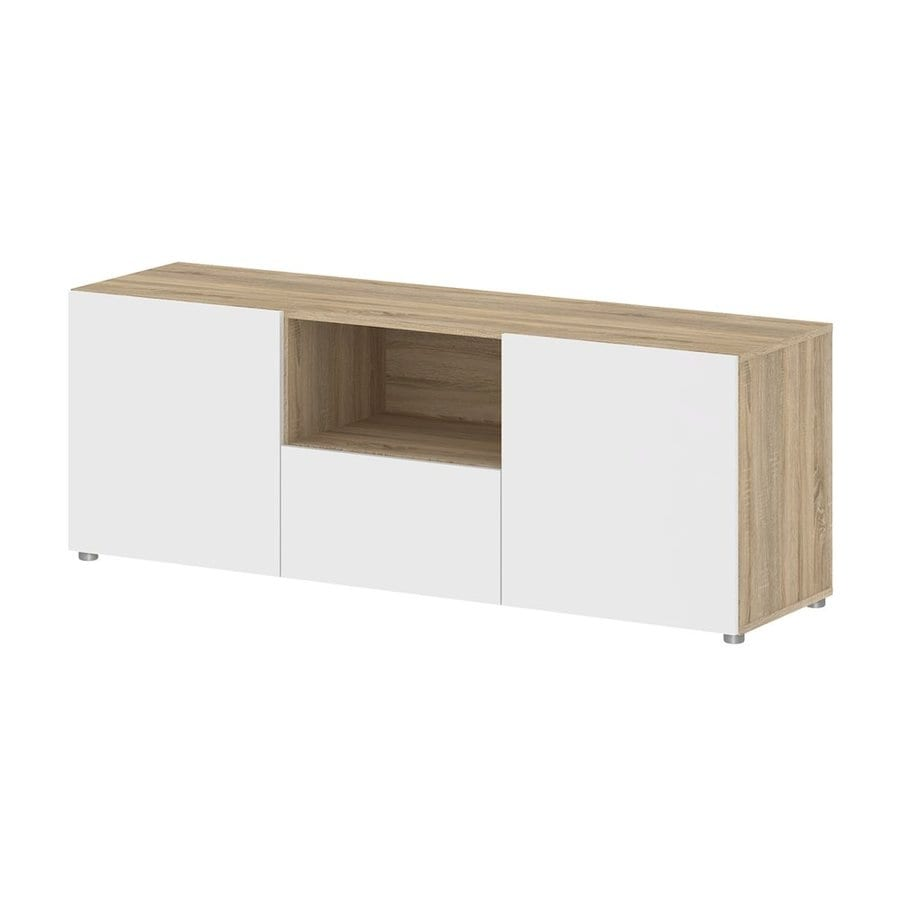 Tvilum Dawson White/Oak Rectangular TV Cabinet
