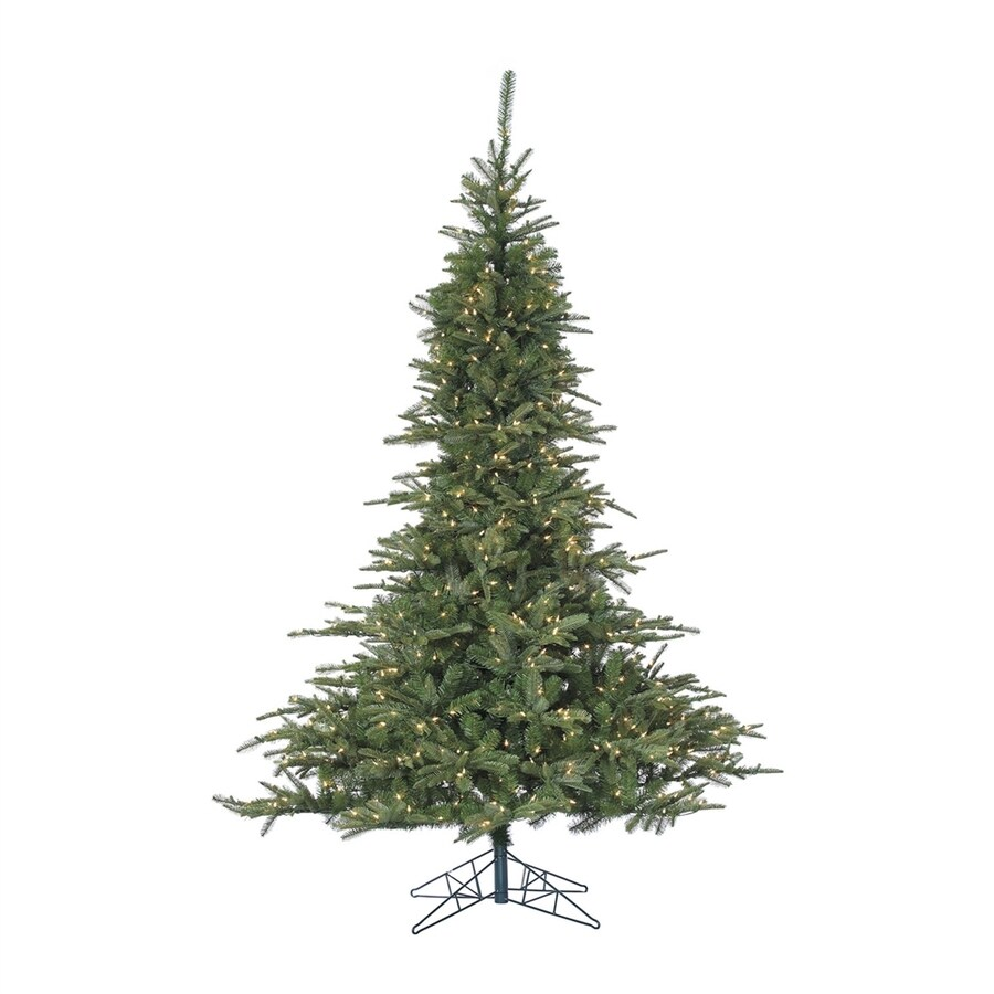 Fraser Hill Farm 7-ft 6-in Pre-Lit Noble Fir Artificial Christmas Tree with 700 Constant Clear White LED Lights
