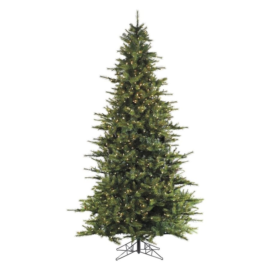 Fraser Hill Farm 7-ft Pre-Lit Southern Pine Artificial Christmas Tree with 600 Constant Clear White Lights