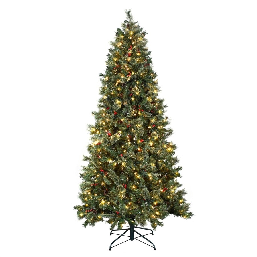 shop astella 7 5 ft pre lit artificial christmas tree with 500 clear white lights at. Black Bedroom Furniture Sets. Home Design Ideas
