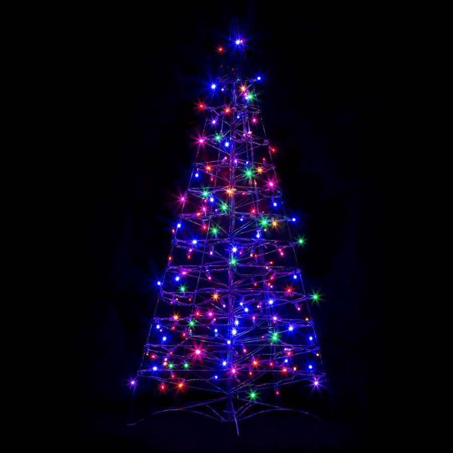 Crab Pot Trees 2.16-ft Freestanding Tree Light Display with Constant Multicolor LED Lights