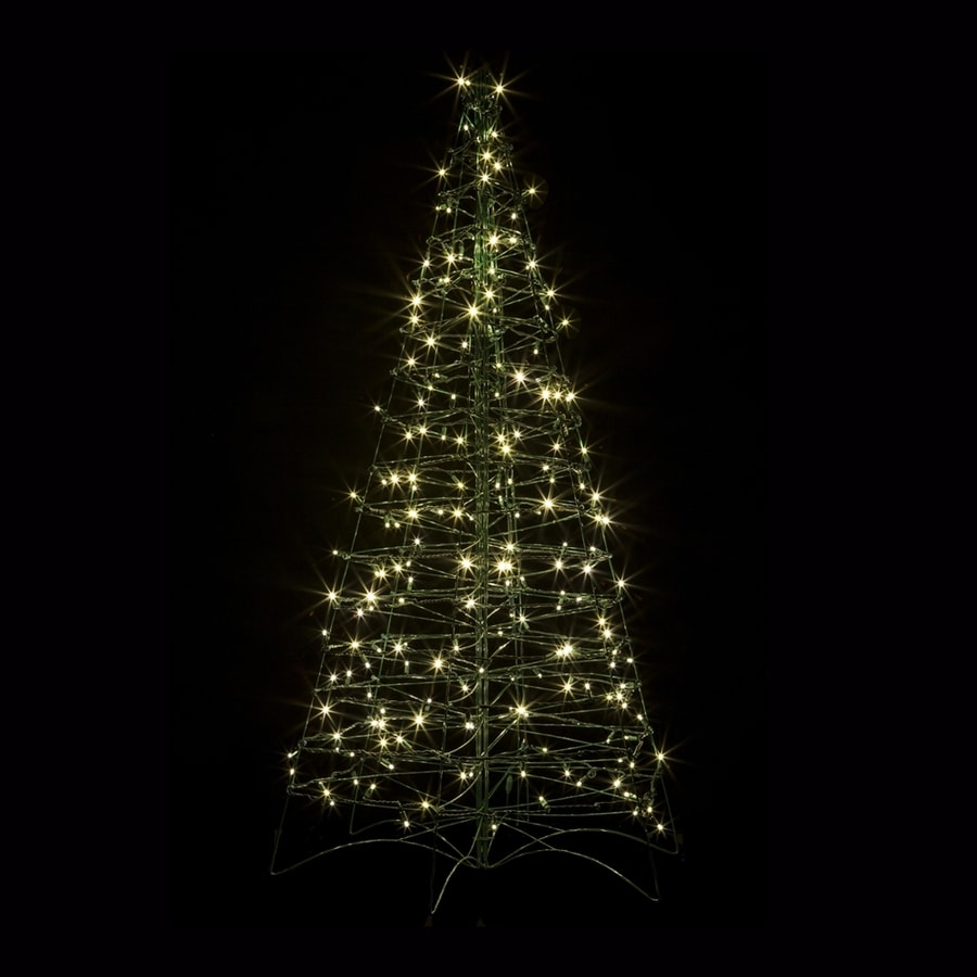 Crab Pot Trees 5-ft Pre-lit Artificial Christmas Tree with Constant 210 White Warm White LED Lights