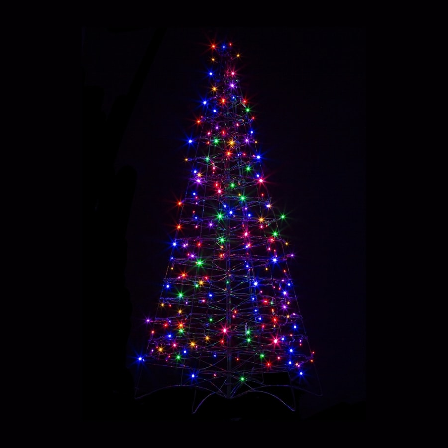 Crab Pot Trees 5-ft Freestanding Tree Light Display with Constant Multicolor LED Lights